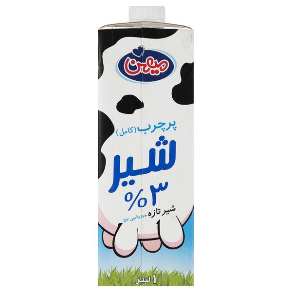 شیر پر چرب میهن حجم 1 لیتر