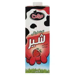 شیر توت فرنگی میهن حجم 1 لیتر