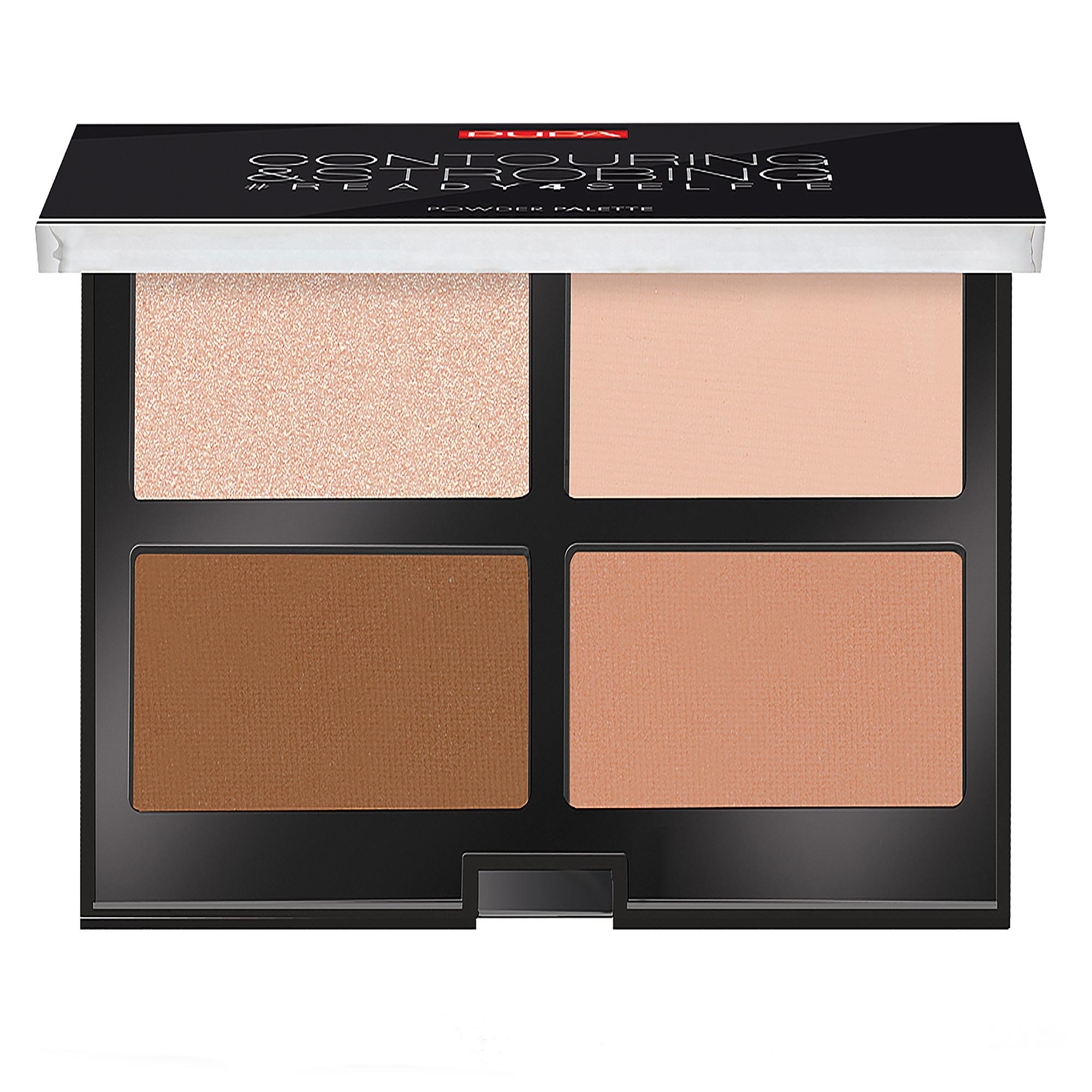 قیمت پالت کانتورینگ پوپا سری Strobing Palette مدل Medium Skin شماره 02