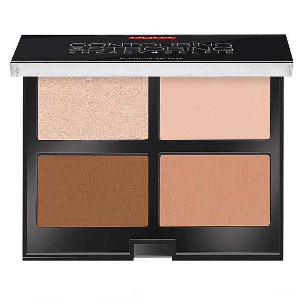 پالت کانتورینگ پوپا سری Strobing Palette مدل Medium Skin شماره 02