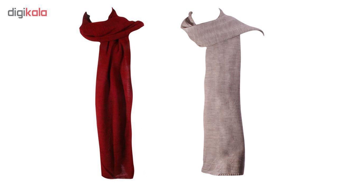 شال بافت زنانه برند ایران ترکی مدل baft در رنگ قرمز و خاکستری طرح شال بافتنی main 1 2