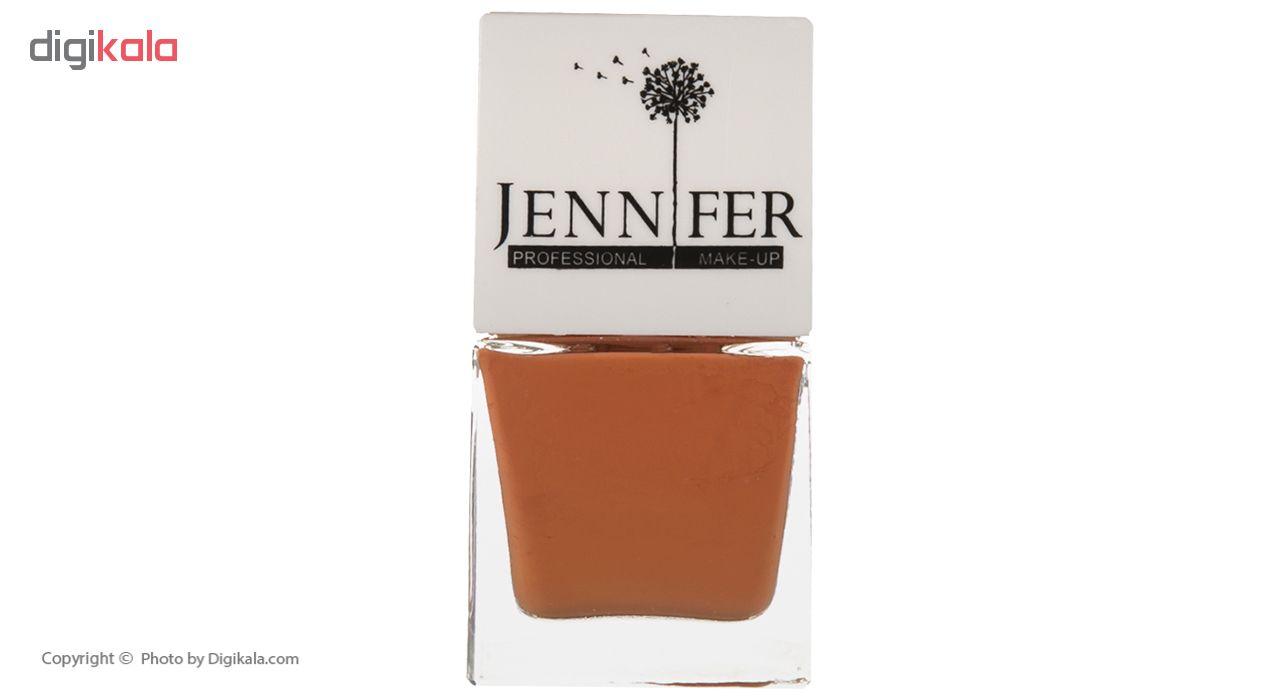 لاک ناخن جنیفر مدل JN شماره 12 به همراه سوهان ناخن