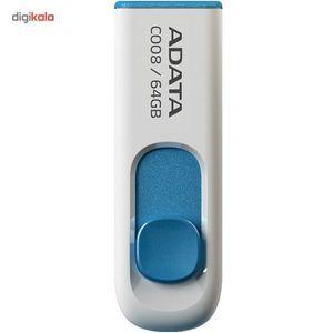 فلش مموری ای دیتا مدل C008 ظرفیت 64 گیگابایت  ADATA C008 Flash Memory - 64GB