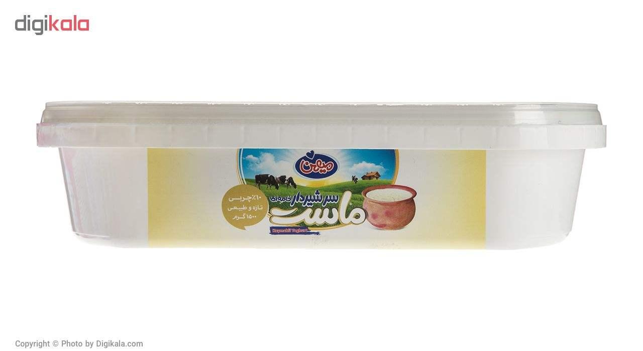 ماست سنتی سر شیر دار پر چرب میهن مقدار 1500 گرم main 1 1
