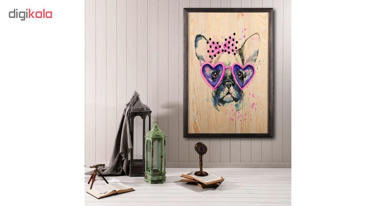 تابلو چوب آتینو مدل Cute Dog