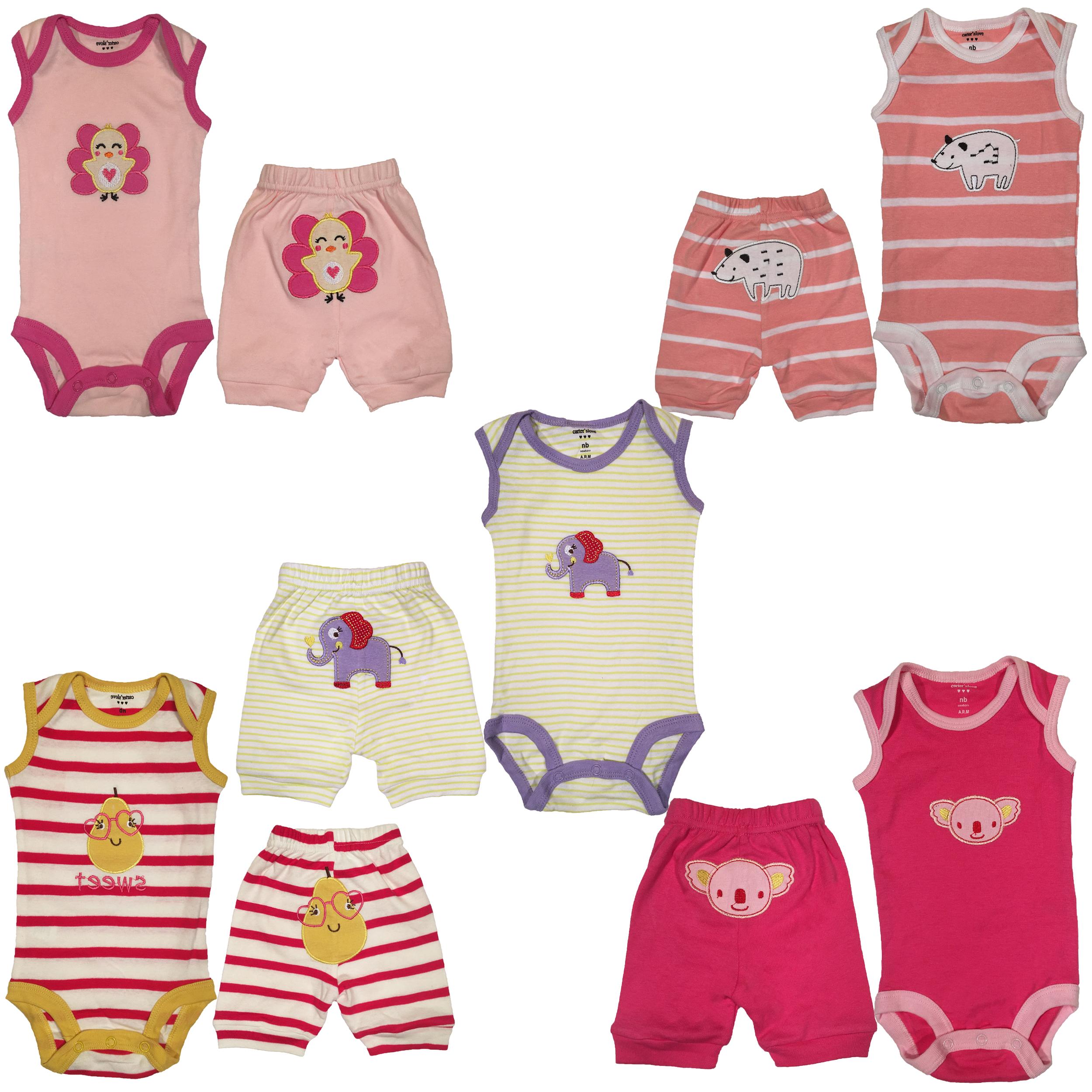 ست لباس نوزادی کارترز لاو مدل 10056-15 مجموعه 10عددی