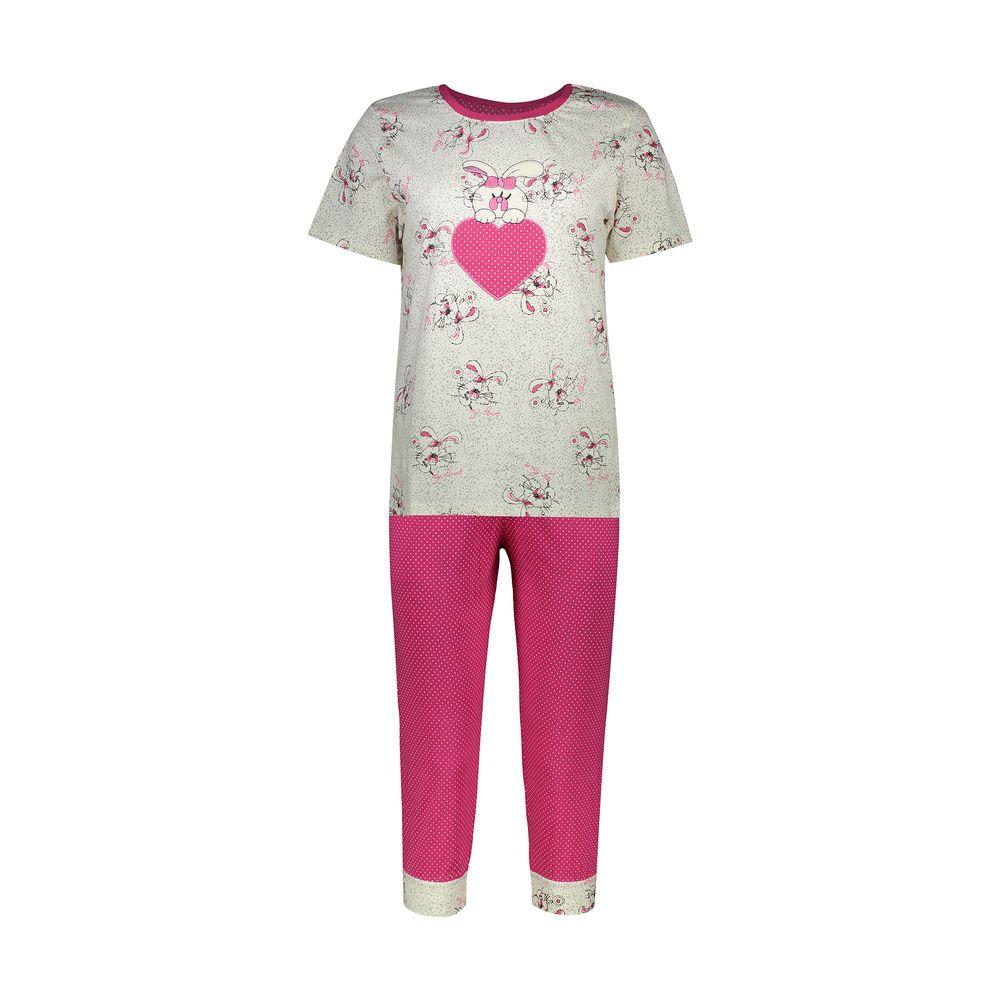ست تی شرت و شلوارک راحتی زنانه مادر مدل 2041105-66
