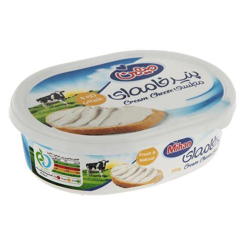 پنیر خامه ای میهن مقدار 200 گرم