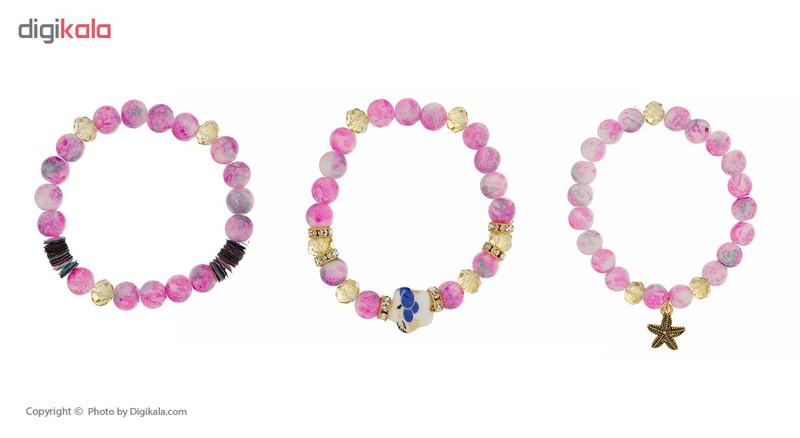 دستبند دخترانه لاچو مدل OS-001 مجموعه 3 عددی