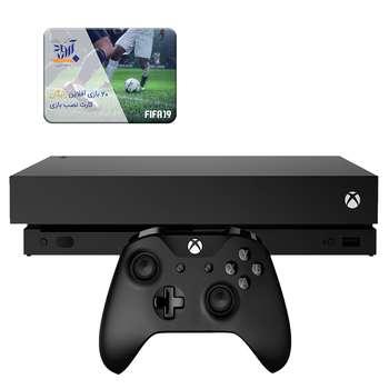 کنسول بازی مایکروسافت مدل Xbox One X ظرفیت 1 ترابایت بهمراه 20 عدد بازی