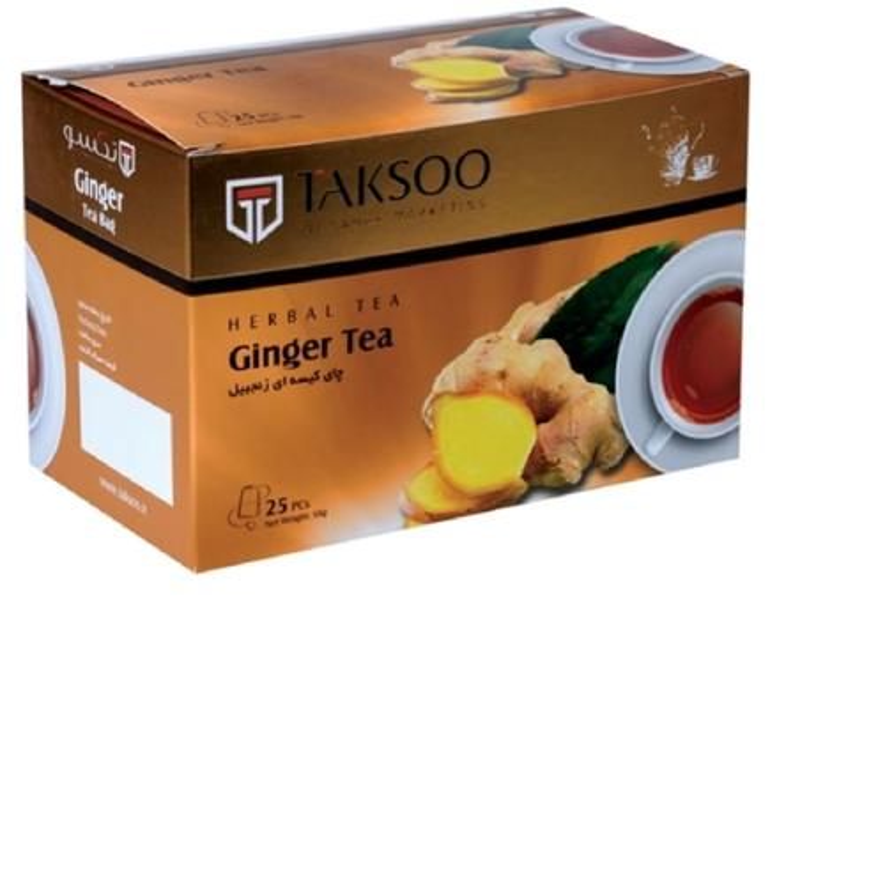 چای کیسه ای زنجبیل تکسو بسته 25عددی