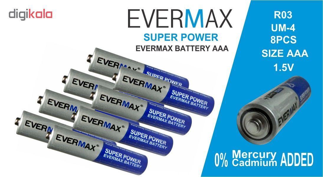 باتری نیم قلمی اور مکس مدل Super Power بسته 8 عددی main 1 3