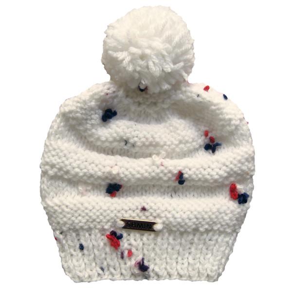 کلاه نوزادی ثمین مدل Flower رنگ سفید