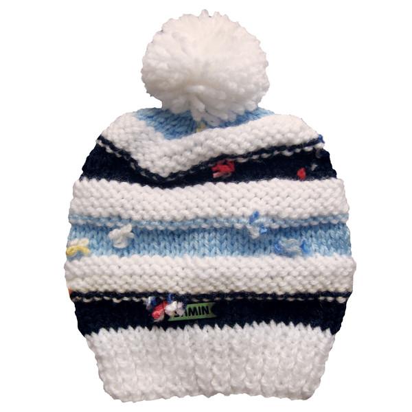 کلاه نوزادی ثمین مدل Flower رنگ مشکی-آبی