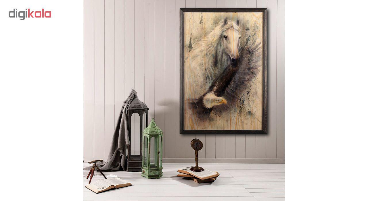 تابلو چوب آتینو مدل Horse & Eagle