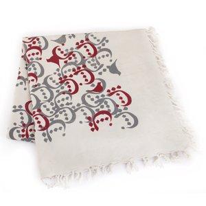 رومیزی چاپ دستی گالری گدار مدل مربعی بزرگ طرح چیدمان حروف