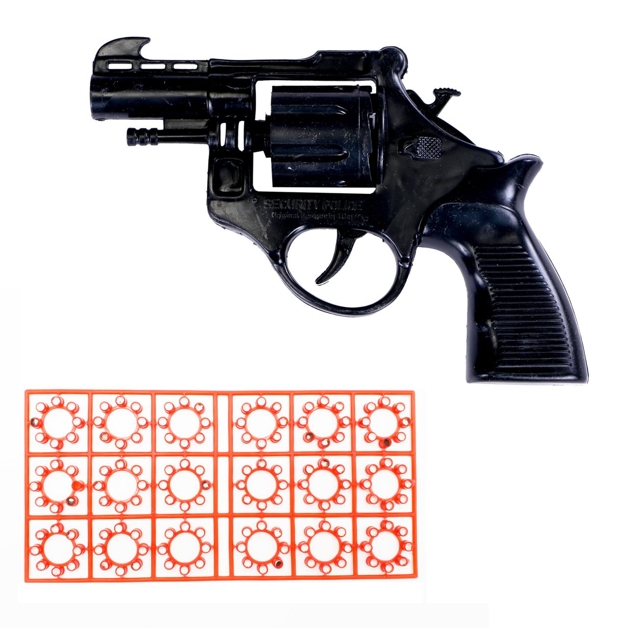 خرید                     تفنگ اسباب بازی مدل ترقه ای به همراه یک بسته تیر