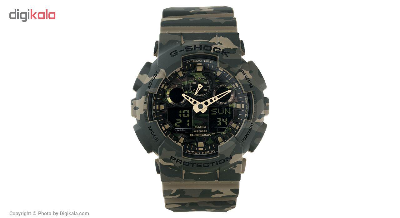 خرید ساعت مچی عقربه ای مردانه کاسیو جی شاک مدل GA-100CM-5ADR