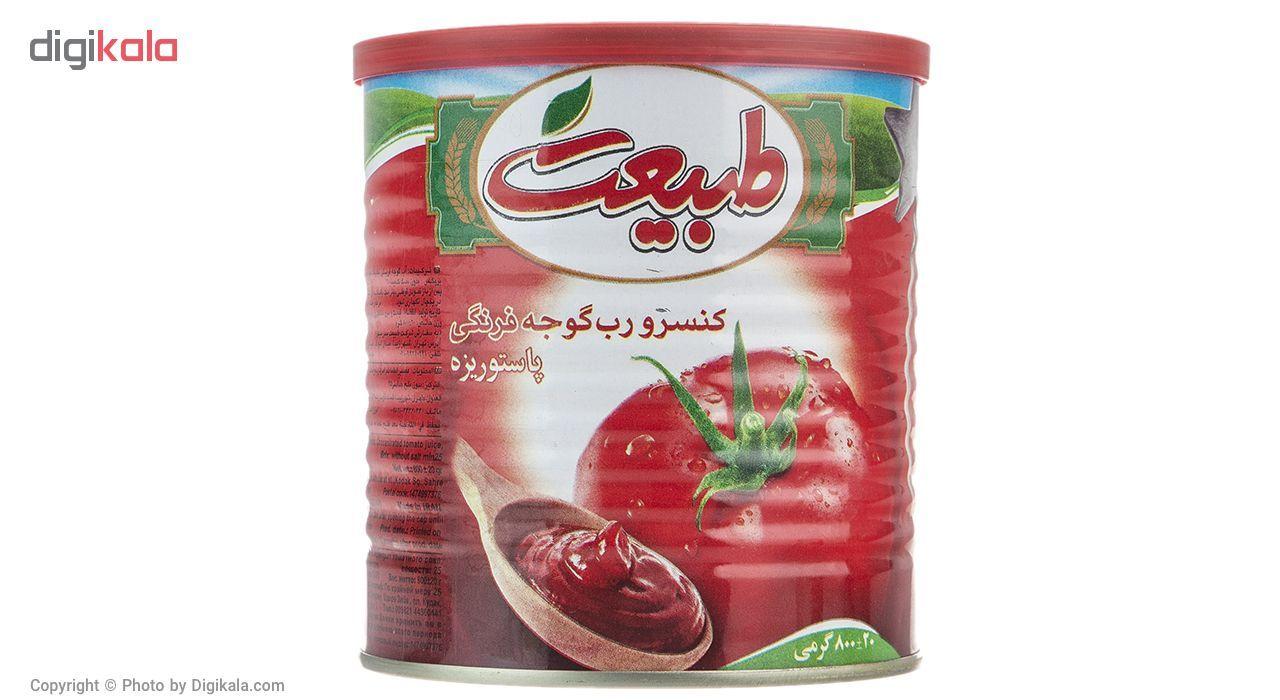 کنسرو رب گوجه فرنگی طبیعت مقدار 800 گرم main 1 2