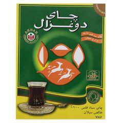 چای سیاه قلمی دو غزال مقدار 450 گرم