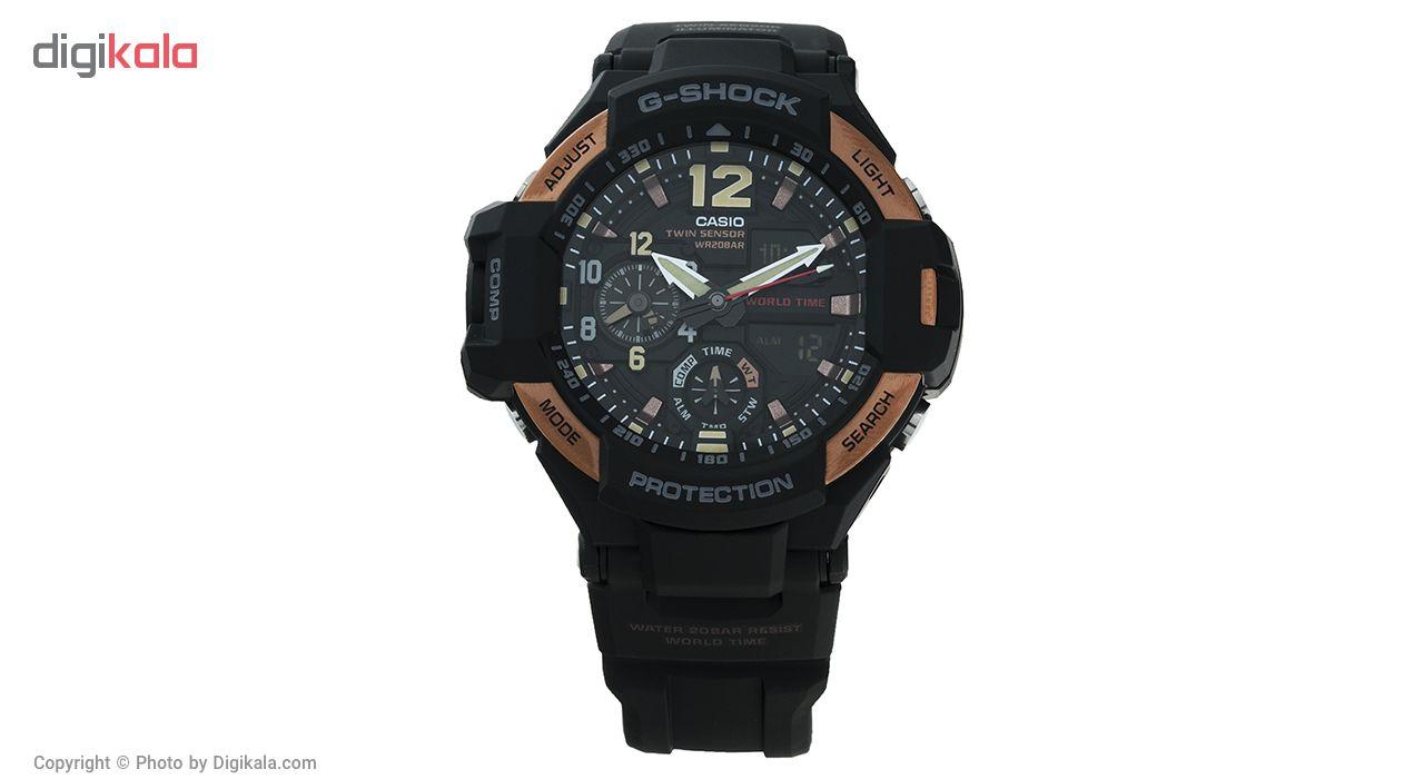 خرید ساعت مچی عقربه ای مردانه کاسیو جی شاک مدل GA-1100RG-1ADR | ساعت مچی