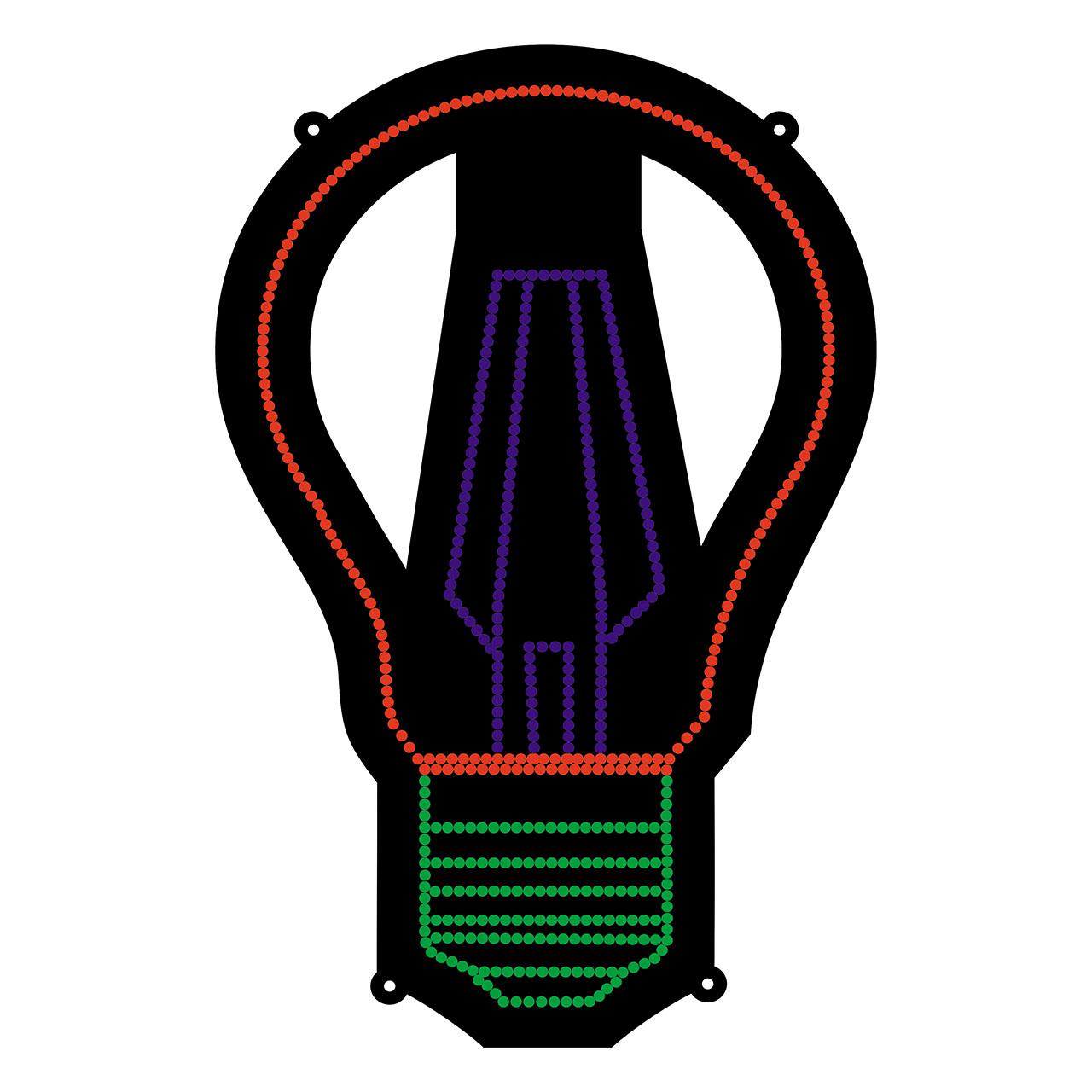 قیمت                      تابلو ال ای دی طرح لامپ مدل حبابی