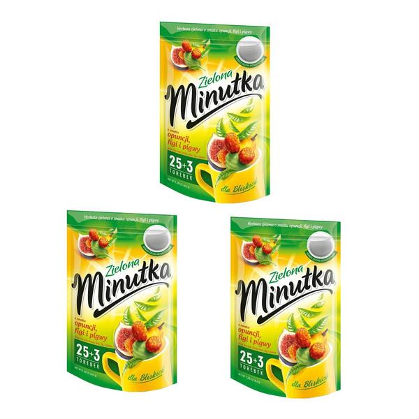 چای سبز مینوتکا مدل مخلوط با طعم به انجیر  مجموعه 3 عددی