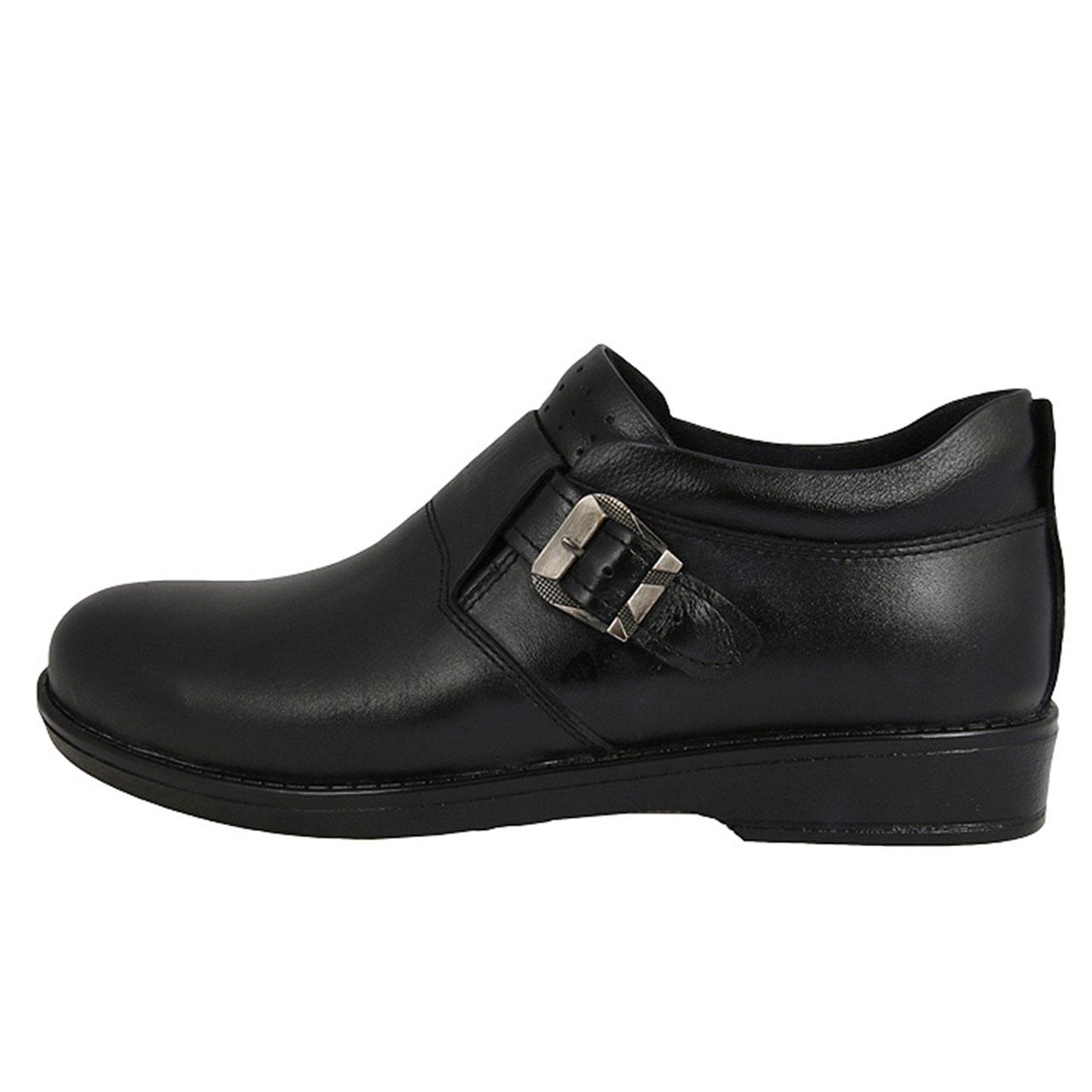 کفش مردانه چرم طبیعی سگک دار کد 324046402