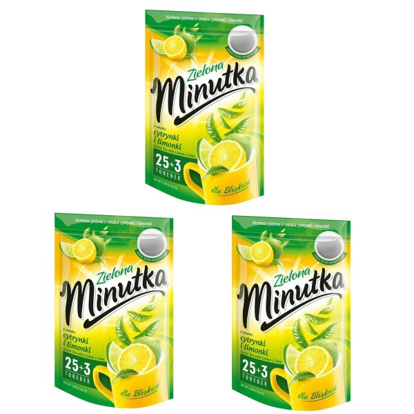 چای سبز مینوتکا مدل لیمو مجموعه 3 عددی مقدار 108 گرم
