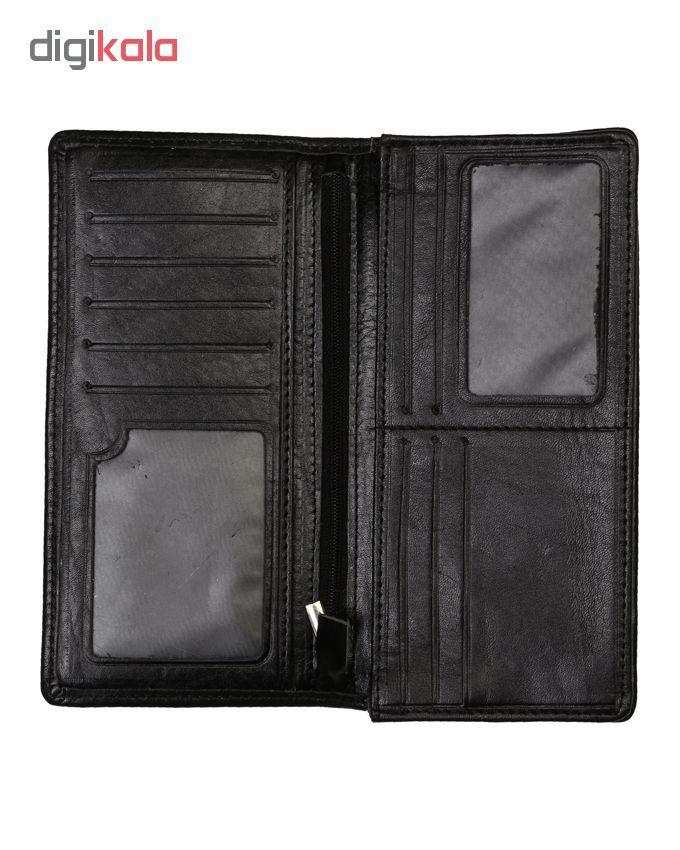 کیف پول مردانه رویال چرم مدل M23-Black main 1 3