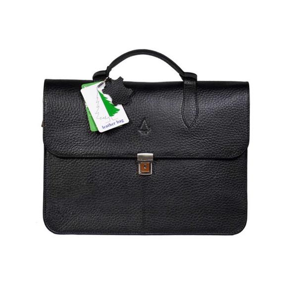 کیف لپ تاپ چرم صنوبر مدل A10-2 مناسب برای لپ تاپ  تا 14 اینچ