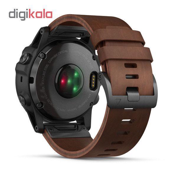 ساعت مچی هوشمند گارمین مدل Fenix 5x Plus Brown Leather Band به همراه بند سیلیکونی main 1 7