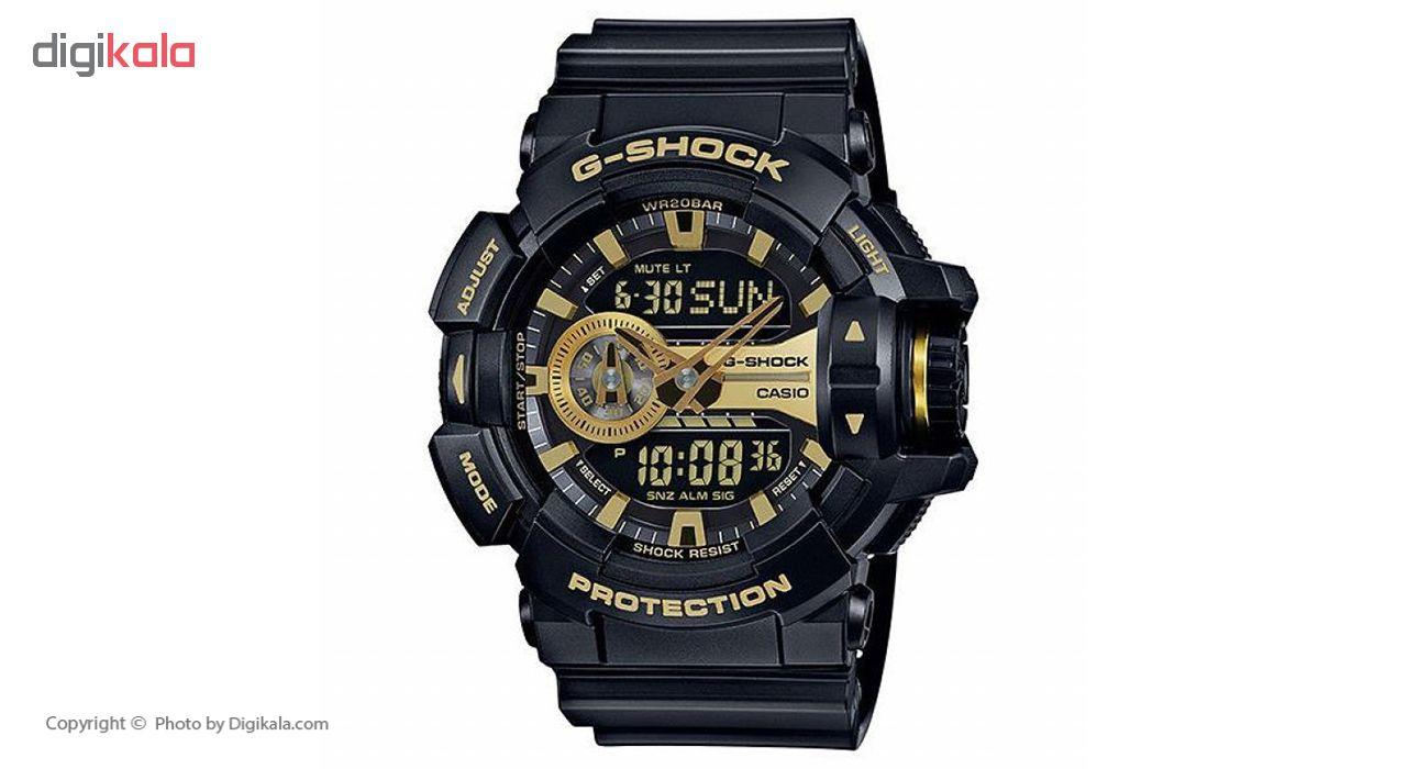 ساعت مچی عقربه ای مردانه کاسیو جی شاک مدل GA-400GB-1A9DR
