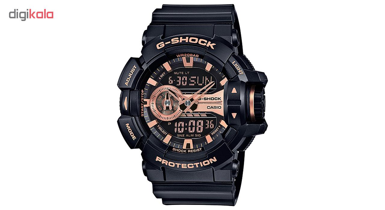 ساعت مچی عقربه ای مردانه کاسیو جی شاک مدل GA-400GB-1A4DR