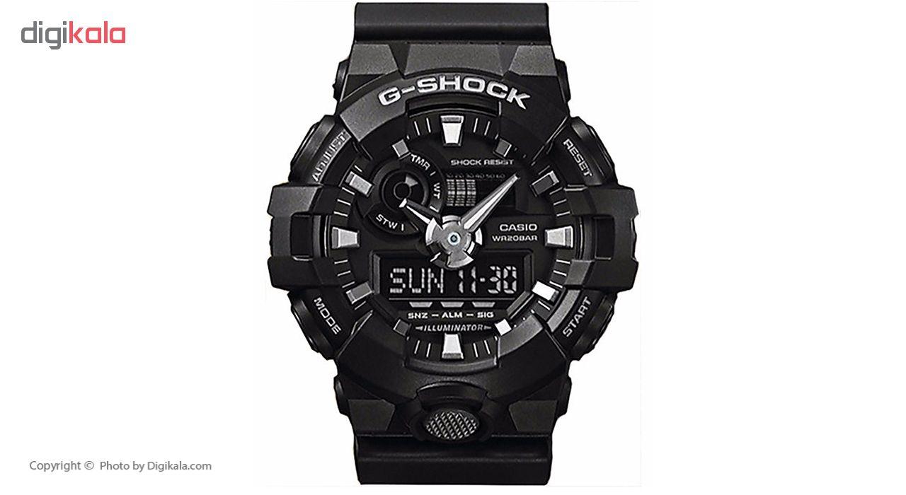 ساعت مچی عقربه ای مردانه کاسیو جی شاک مدل GA-700-1BDR