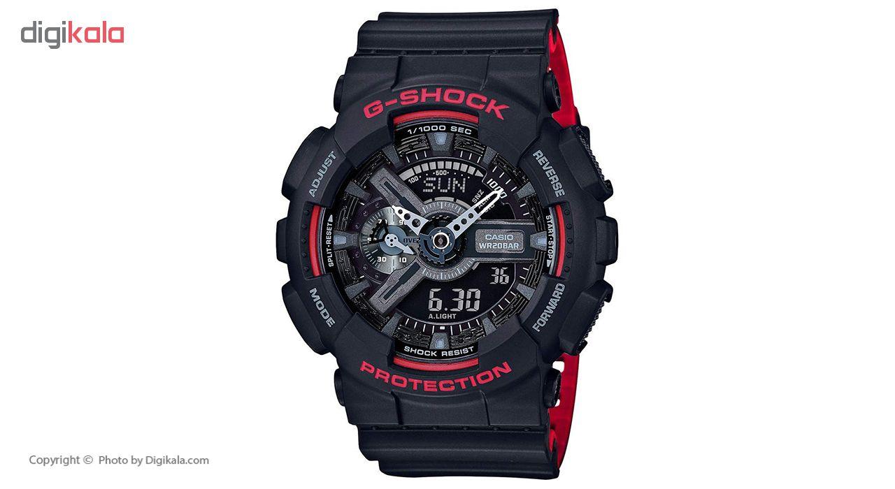 خرید ساعت مچی عقربه ای مردانه کاسیو جی شاک مدل GA-110HR-1ADR | ساعت مچی