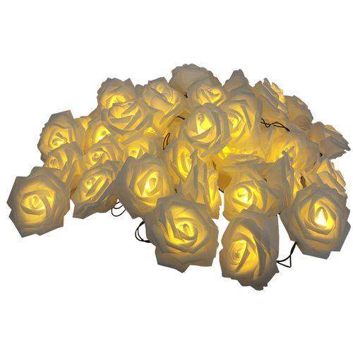 ریسه ال ای دی گل رز سفید درشت 6 متری کد 870