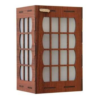 چراغ خواب دیواری چوبین  کد 106
