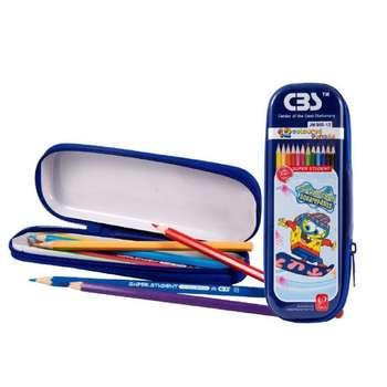 مداد رنگی 12 رنگ سی بی اس مدل JM-900-12