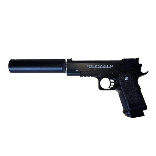 تفنگ بازی مدل کلت فلزی با صدا خفه کن D.1A