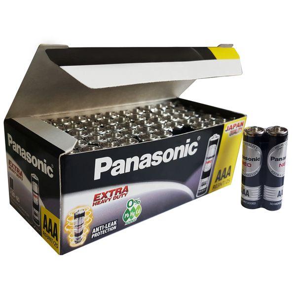 باتری نیم قلمی پاناسونیک مدل extra heavy duty بسته 60 عددی