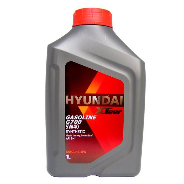 روغن موتور خودرو هیوندای اکستیر مدل 5W-40 G700 ظرفیت 1 لیتر