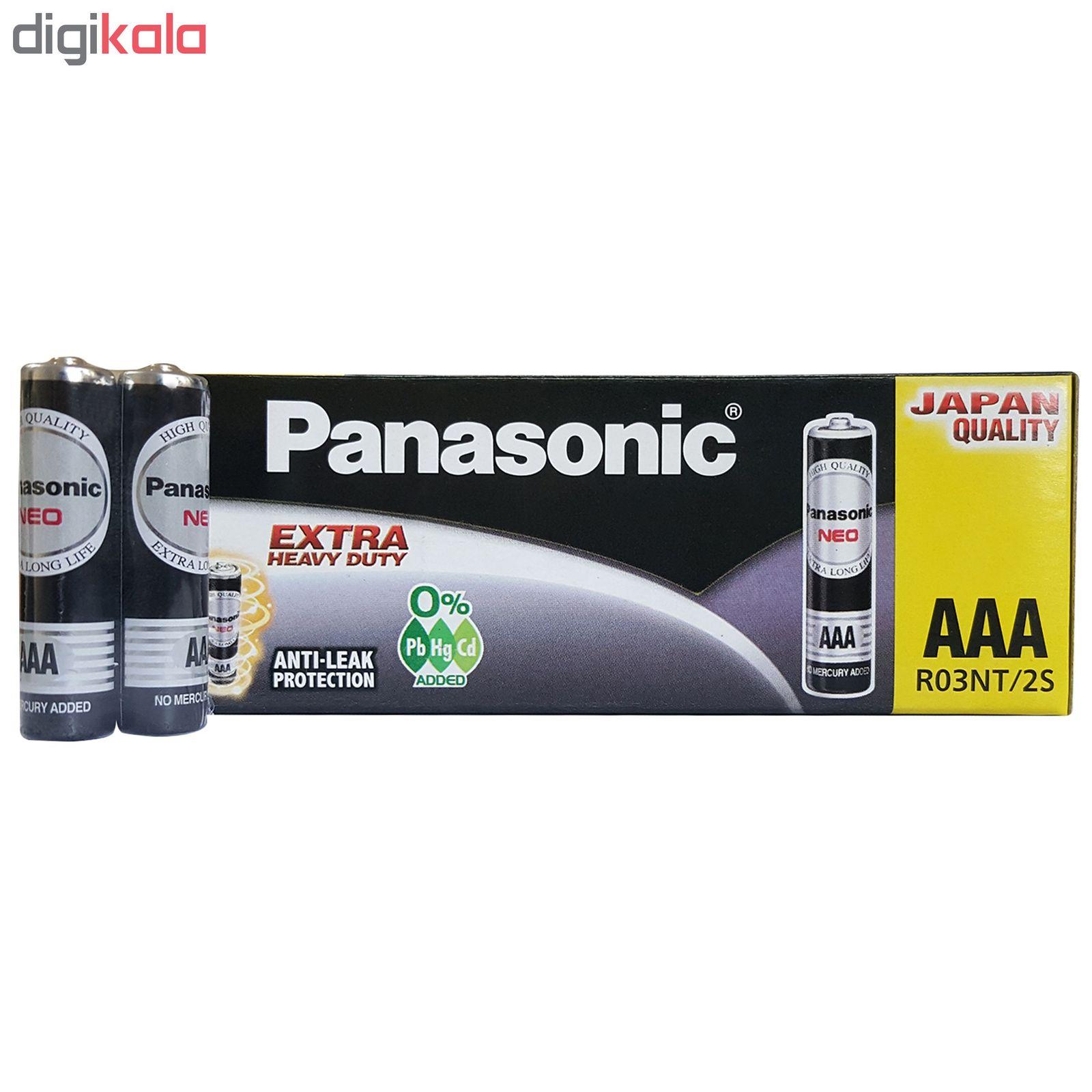 باتری نیم قلمی پاناسونیک مدل extra heavy duty بسته 60 عددی main 1 1