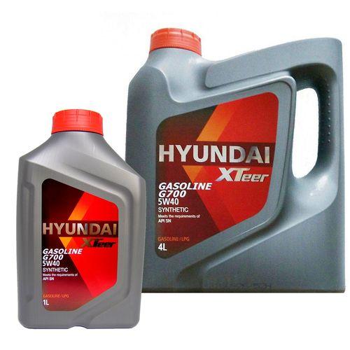 روغن موتور خودرو هیوندای اکستیر مدل 5W-40 G700 ظرفیت 5 لیتر
