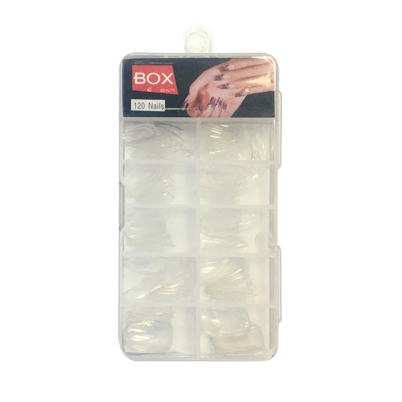 ناخن مصنوعی بی رنگ باکس مدل XO-95 بسته 120 عددی