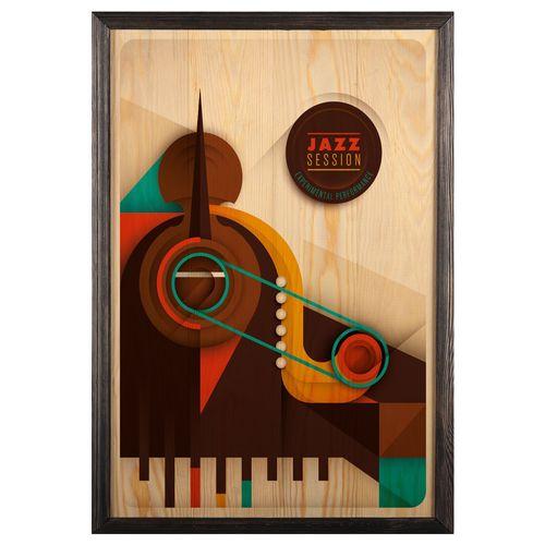 تابلو چوب آتینو طرح پیانو