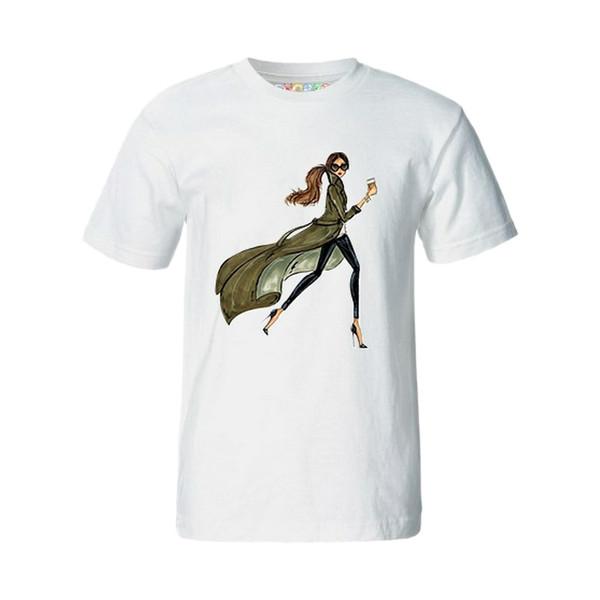 تی شرت آستین کوتاه زنانه چاپ سی کد 01mw