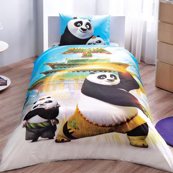 سرویس ملحفه تاچ مدل Kung fu panda Movie یک نفره 3 تکه