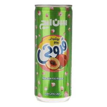 نوشیدنی هلو همراه با تکه های هلو سن ایچ مقدار 0.24 لیتر