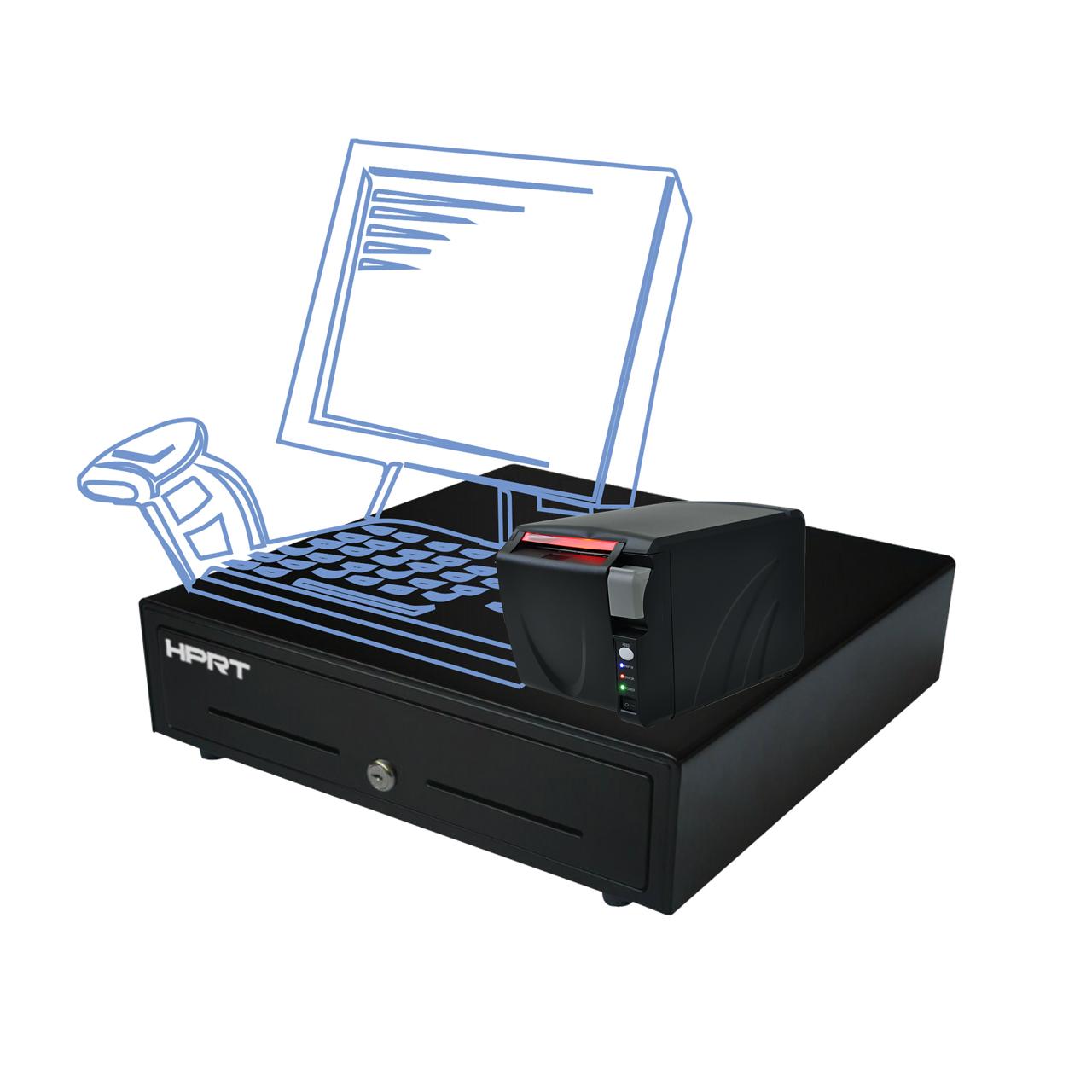 قیمت                      پرینتر حرارتی اچ پی آر تی مدل TP801 به همراه کشو پول اچ پی آر تی مدل MK_410